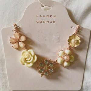 Lauren Conrad Ornamental Floral Statement Necklace
